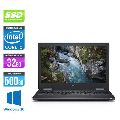 Dell Precision 7530 - i5 - 32Go DDR4 - 500Go SSD - NVIDIA Quadro P2000 - Windows 10