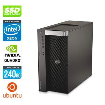Dell T7600 - 2 x Xeon 2650 - 64Go - 240Go SSD - Quadro 6000 - Linux