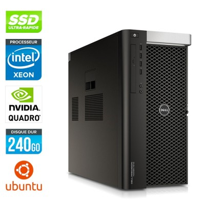 Dell T7610 - 2 x Xeon 2650 V2 - 64Go - 240Go SSD - Quadro K6000 - Linux