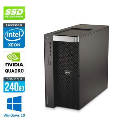 Dell T7600 - 2 x Xeon 2650- 64Go - 240Go SSD - Quadro 6000 - W10