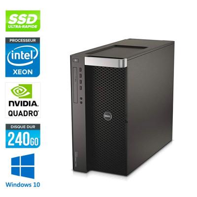 Dell T7600 - 2 x Xeon 2650- 64Go - 240Go SSD - Quadro 2000 - W10