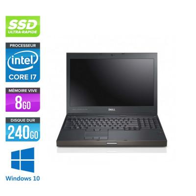 Workstation Dell Precision M4600 reconditionné - i7 - 8Go - 240Go SSD - NVIDIA Quadro K2000M - Windows 10