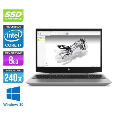 Hp Zbook 15v G5 - i7 - 8Go - 240Go SSD - Windows 10