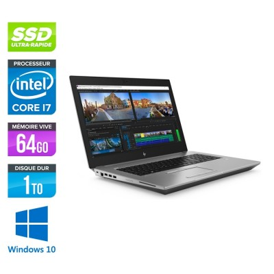 Hp Zbook 17 G5 - i7 - 64Go - 1To SSD - 500Go HDD - Windows 10