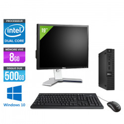 "Dell Optiplex 3020 Micro - Windows 10 + Écran 19"""