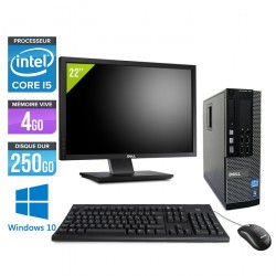 Dell Optiplex 7010 SFF - Windows 10 + Ecran 22''