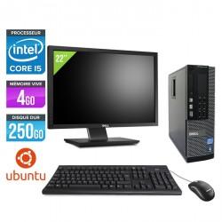 Dell Optiplex 790 SFF Ubuntu / Linux + Ecran 22''