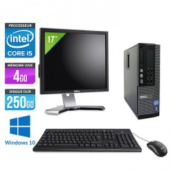 Dell Optiplex 790 SFF - Windows 10 + Ecran 17''