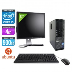 Dell Optiplex 790 SFF Ubuntu / Linux + Ecran 17''