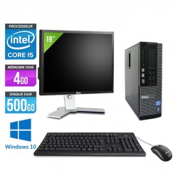 Dell Optiplex 790 SFF - Windows 10 + Ecran 19''