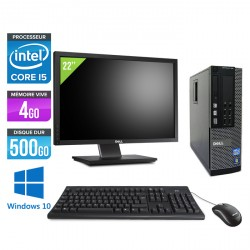 Dell Optiplex 790 SFF - Windows 10 + Ecran 22''