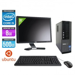 Dell Optiplex 790 SFF Ubuntu / Linux + Ecran 20''