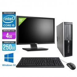 HP Elite 8100 SFF - Windows 10 + Ecran 22''