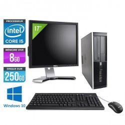 HP Elite 8100 SFF - Windows 10 + Ecran 17''