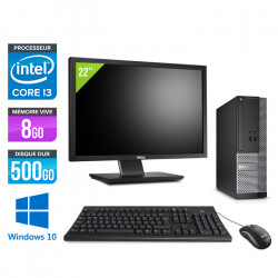 """Dell Optiplex 3020 SFF - Windows 10 + Écran 22"""""""