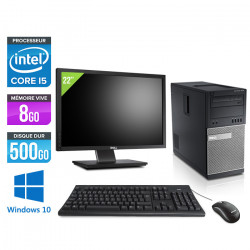 """Dell Optiplex 7010 Tour - Windows 10 + Écran 22"""""""