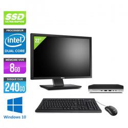 HP ProDesk 600 G4 USDT - Windows 10 + Ecran 22''