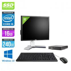 "HP EliteDesk 800 G1 DM - Windows 10 + Écran 19"""