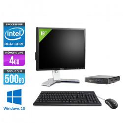 "HP EliteDesk 800 G1 DM - Windows 10 + Ecran 19"""