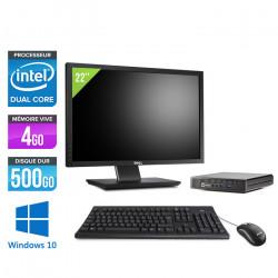 "HP EliteDesk 800 G1 DM - Windows 10 + Ecran 22"""