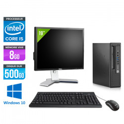 "HP EliteDesk 800 G1 USFF - Windows 10 + Ecran 19"""