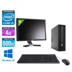 "HP EliteDesk 800 G2 SFF - Windows 10 + Écran 20"""