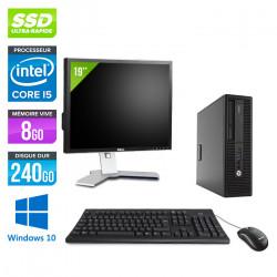 "HP EliteDesk 800 G2 SFF + Écran 19"" - Windows 10"