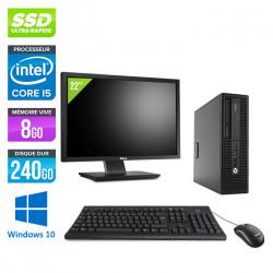 "HP EliteDesk 800 G2 SFF - Windows 10 + Écran 22"""