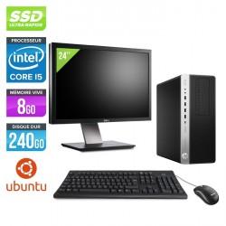 "HP EliteDesk 800 G3 Tour - Ubuntu / Linux + Écran 24"""