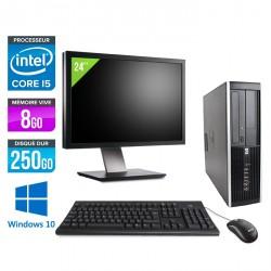 HP Elite 8200 SFF - Windows 10 + Ecran 24''