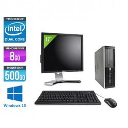 HP Elite 8200 SFF - Windows 10 + Ecran 17''
