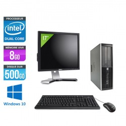 HP Elite 8300 SFF + Ecran 17'' - Windows 10