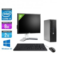 "HP ProDesk 400 G3 SFF - Windows 10 - Ecran 19"""