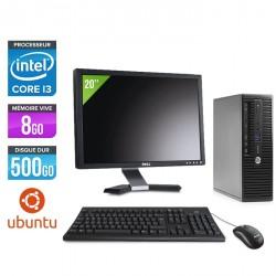 "HP ProDesk 400 G3 SFF - Ubuntu / Linux - Ecran 20"""