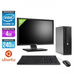 "HP ProDesk 400 G3 SFF - Ubuntu / Linux - Ecran 22"""