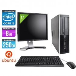 HP Elite 8200 SFF - Ubuntu / Linux + Ecran 17''