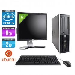 HP Elite 8200 SFF - Linux + Ecran 17''