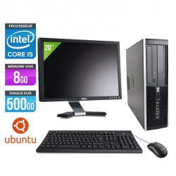 HP Elite 8200 SFF - Ubuntu / Linux + Ecran 20''