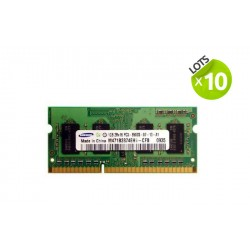 Lot de 10 barrettes RAM Samsung - SO-DIMM - 1 Go - DDR3 - PC3-8500S