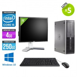 Lot de 5 HP Elite 8200 SFF - Windows 10 + Ecrans 19""
