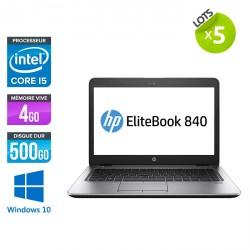 Lot de 5 HP EliteBook 840 G1 - Windows 10