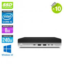 Lot de 10 HP EliteDesk 800 G3 DM - Windows 10