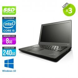 Lot de 3 Lenovo ThinkPad X240 - Windows 10
