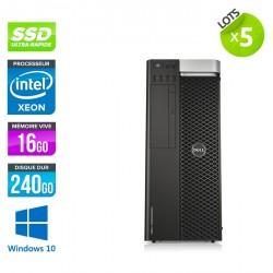 Lot de 5 Dell Precision T5610 - Windows 10