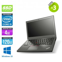 Lot de 3 Lenovo ThinkPad X250 - Windows 10