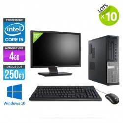 Lot de 10 Dell Optiplex 7010 Desktop - Windows 10 + Ecrans 22''