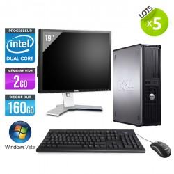 """Lot de 5 Dell Optiplex 755 Desktop + Ecrans 19"""""""