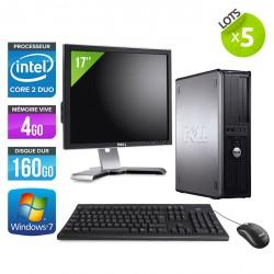 Lot de 5 Dell Optiplex 780 Desktop + Ecrans 17''
