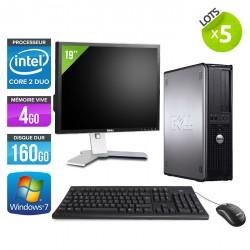 Lot de 5  Dell Optiplex 780 Desktop + Ecrans 19''