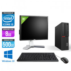 "Lenovo ThinkCentre M700 SFF - Windows 10 + Ecran 19"""